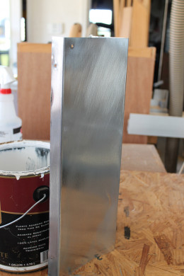 Etching the metal to hold paint