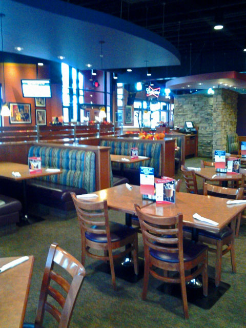 The dining room at Boston's Restaurant and Sports Bar