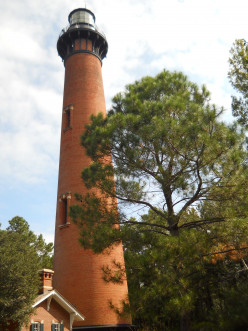 The lighthouse is 162 feet tall and was built in 1875.