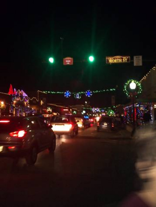 Grapevine Christmas at Night