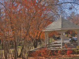 The gazebo: a place to relax . . . or even get married!