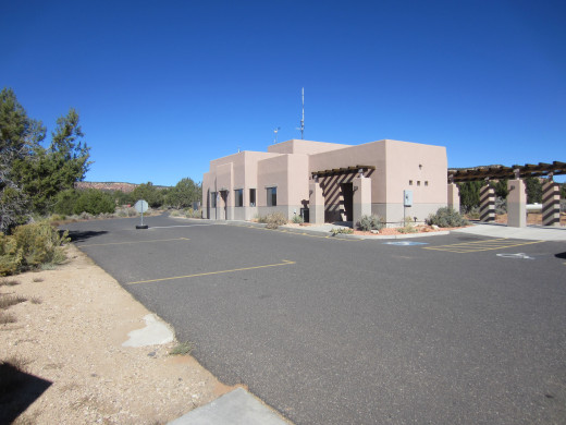 Visitor Center at entrance to Coral Pink Sand Dunes State Park in Utah