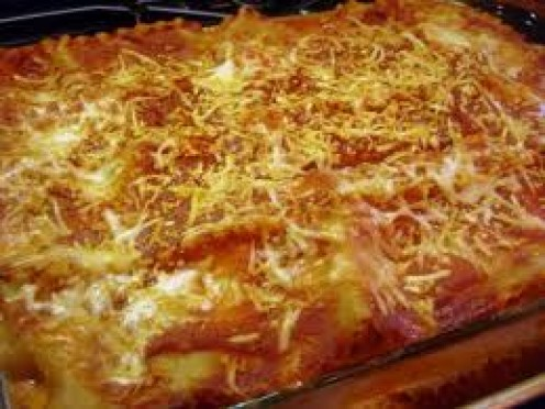 Cheese and sauce make the Lasagna a treat indeed.
