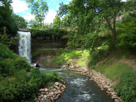 Minnehaha falls and part of Hiawatha Creek. This was taken in the summer of 2011.
