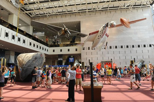 The entrance hall of the National Air and Space Museum was photographed by Jawed Karim on June 11, 2010.
