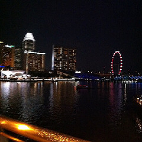 A view of the Singapore Skyline to complete our journey.