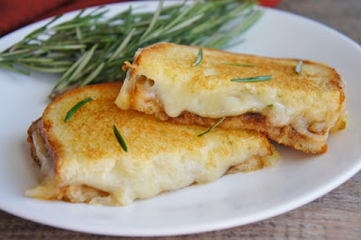 Rosemary apple butter grilled cheese