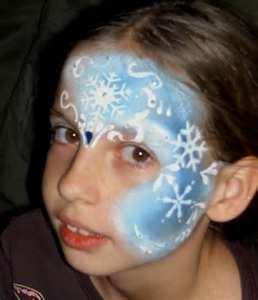 snowflake princess face paint design