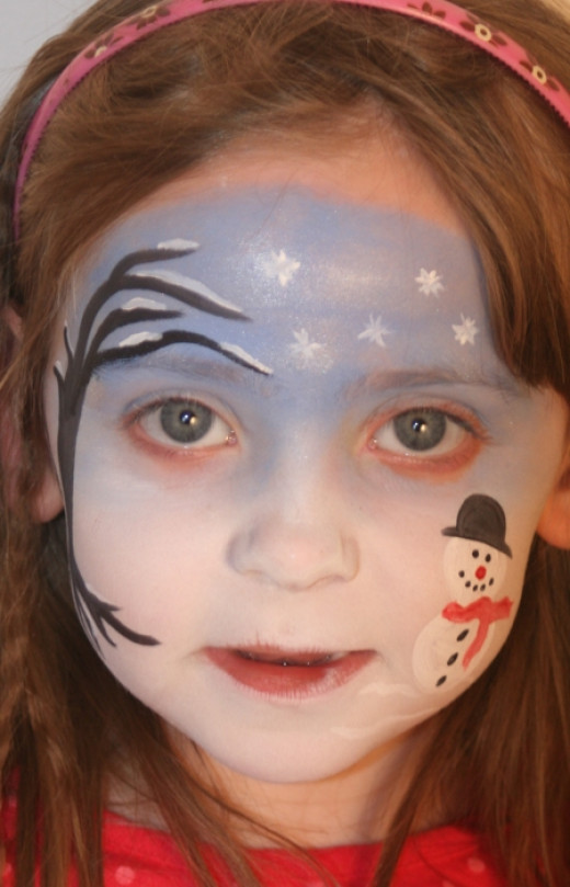 Halloween Scenes to Paint Snowflake Face Painting Scene