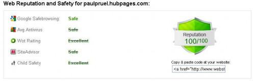 paulpruel.hubpages.com is 100/100 safe