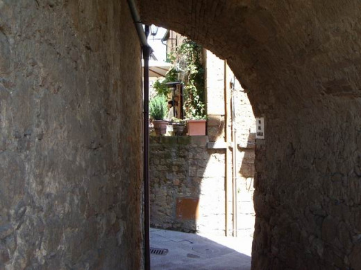 Entering back into Pienza -  from the outside wall