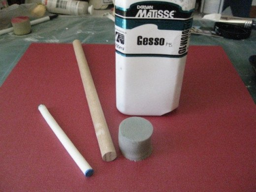 Using gesso can create amazing backgrounds for your mixed media art