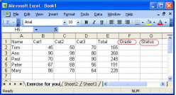 Using Simple IF Function In Microsoft Office Excel 2003