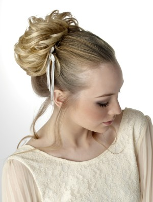 Delicate styled wedding hair piece