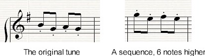 Example of a sequence as used in the piece