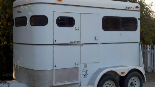 Our two horse trailer