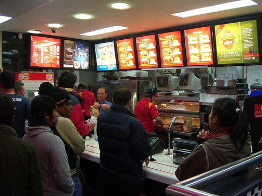 For some families, the fast food restaurant is a very familiar place several times each week
