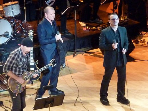The Edge, Gavin Friday, and Bono at Carnegie Hall