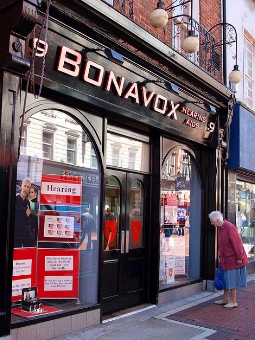 BONAVOX Hearing Aids in Dublin, Ireland, the Alleged Origin of Bono's Now Famous Name