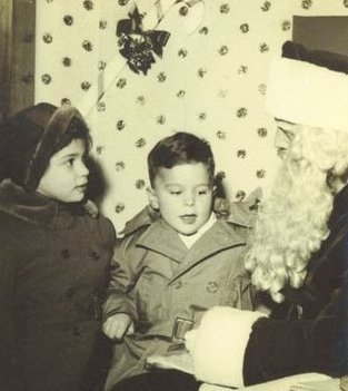 My Sister Carol Jane & Me with Santa               Circa 1953-54