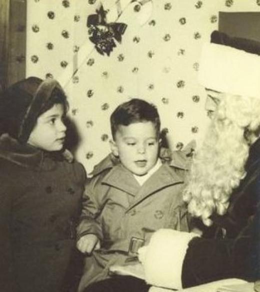 My Sister Carol Jane & Me with Santa               Circa 1953-54