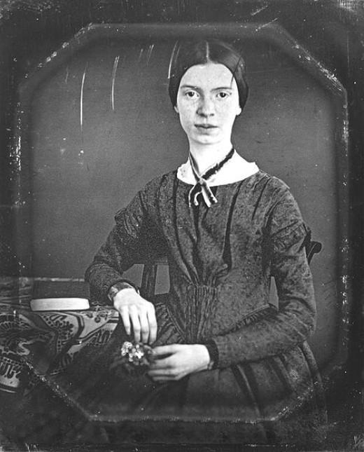 A daguerreotype image of Emily Dickinson