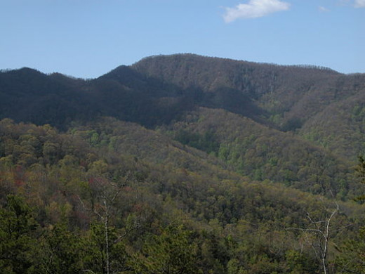 Wesser Bald, the mountain that overlooks the Nantahala Outdoor Center at Wesser, NC.