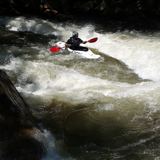 A kayaker on the Nantahala River.