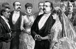 Grover Cleveland's marriage with Francem Folsom