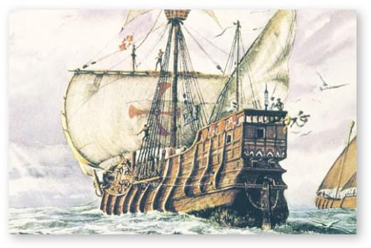 Columbus' flagship Santa Maria