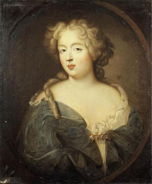 This portrait of Madame de Montespan (1640-1707), currently located in the Palace of Versailles in France, was painted circa 1675.