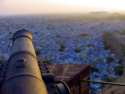 A view of the blue city from Mehrangarh Fort