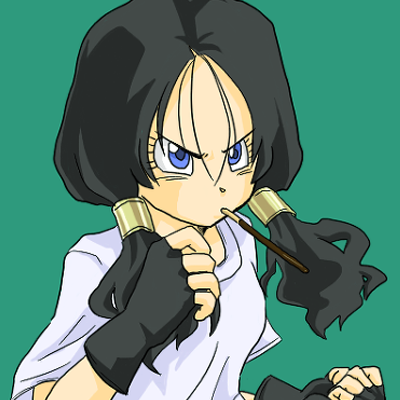 Videl in fighting pose