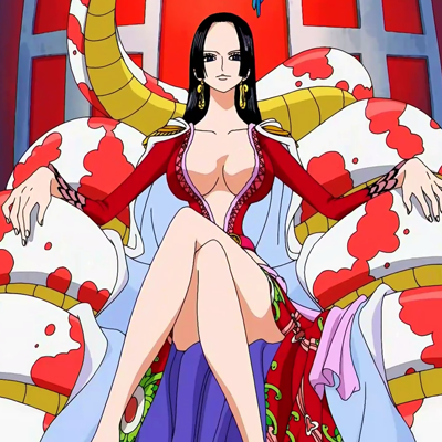 Boa Hancock on her throne