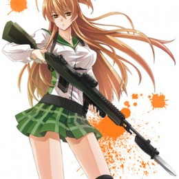 Rei with her gun