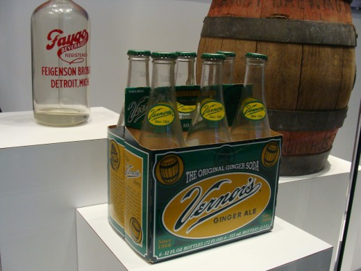 Vernors is a Detroit based ginger ale soda pop company.  Here are some of the first bottles ever made.