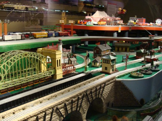 The model train display was great fun to watch.