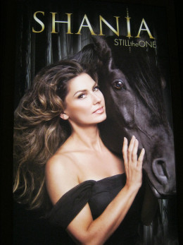 An advertising billboard for Shania Twain's new show at Caesar's Palace, which officially begins December 1, 2012.
