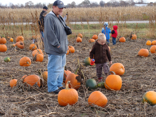 Picking out our pumpkins!