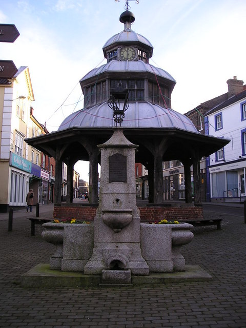 North Walsham: the old town pump in front of the Market Cross