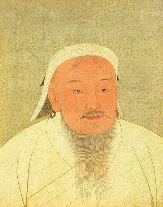 Genghis Khan's real name was Temujin. 'Genghis Khan' was actually a title bestowed on him; it translates as 'Very Mighty King'.