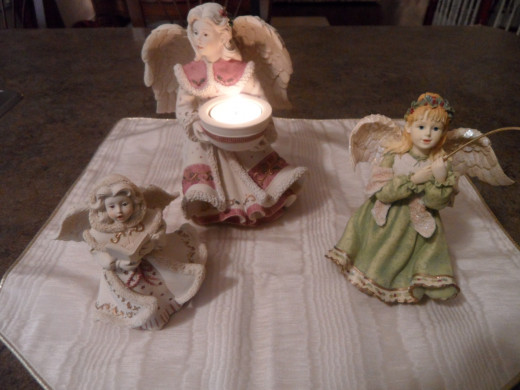 Angel collectibles from Crabtree and Evelyns