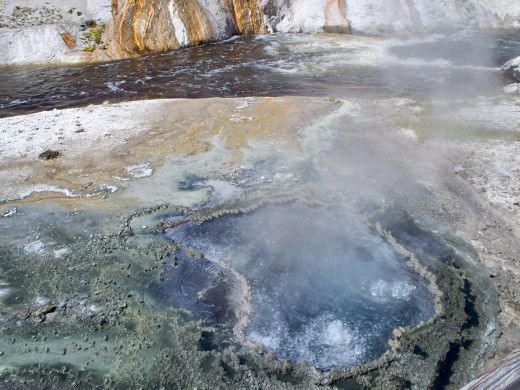 Hot spring in the Old Faithful Vincinity