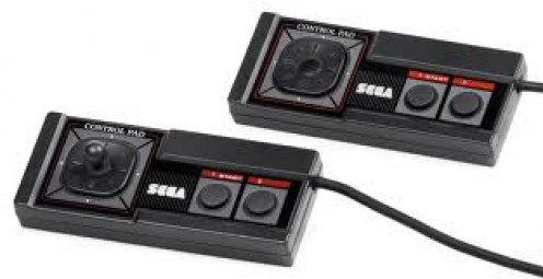 Master System Controllers were produced for the Sega master system. They had two buttons and a start and select button as well.