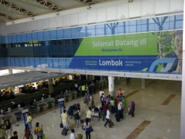 Lombok Int. Airport. Selamat Datang/welcome to Lombok.