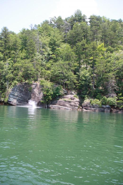 jumping Rock on Lake Keowee