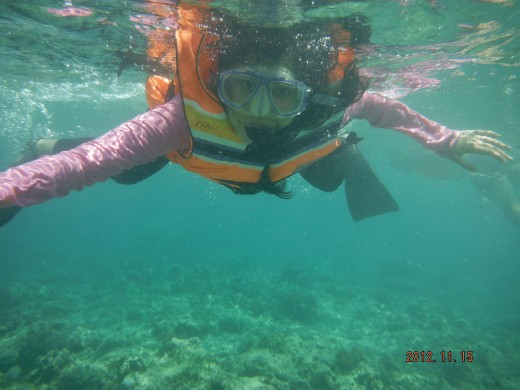 Snorkeling at Gili Air.