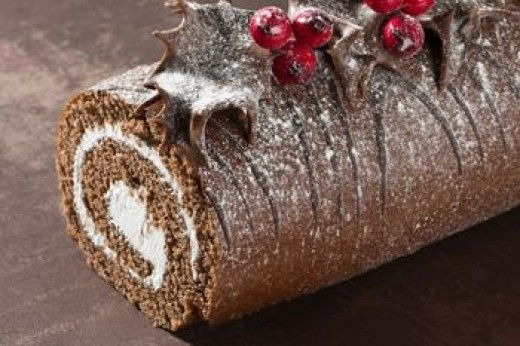A chocolate Yule cake