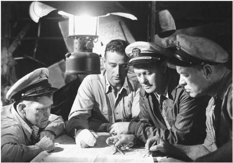John Wayne and Robert Montgomery