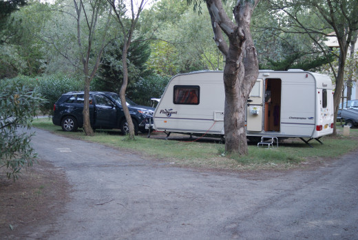Our outfit parked up at Ma Prairie note the tarmaced roadway that is totally worn out